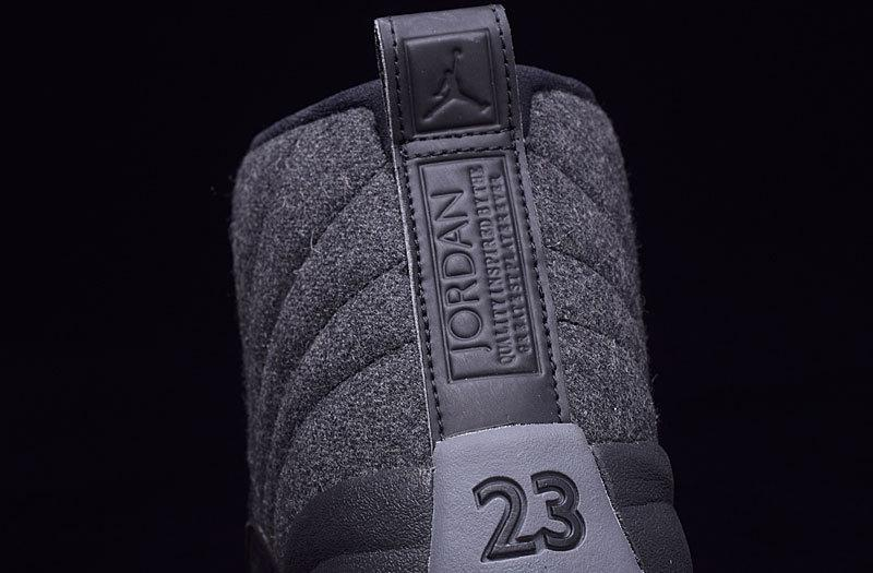 Authentic Air Jordan 12 Black Carbon Plate Grey Wool 2016 AYCL001287 Yeezysale