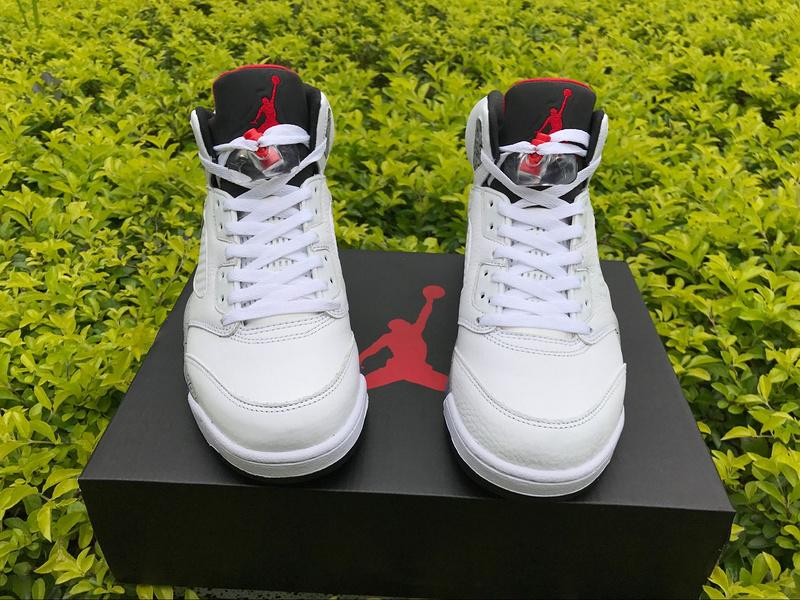 Authentic Air Jordan 5 White Cement