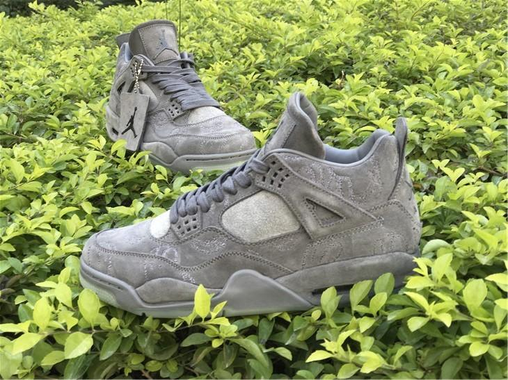 KAWS x Air Jordan 4 Cool Grey Color Sale