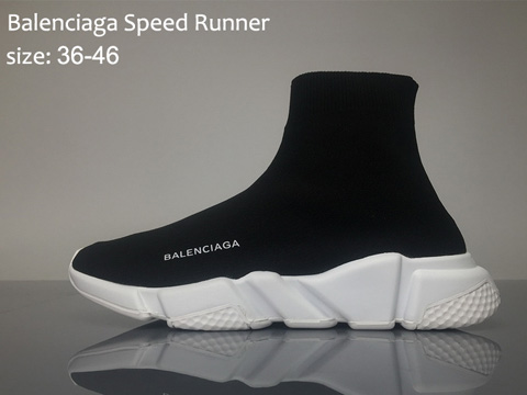 Balenciaga Speed Runner Black White For Sale