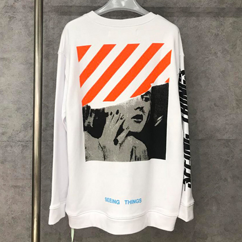 Off White 17FW Marilyn Monroe Long Sleeves Sweatshirt Released