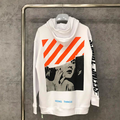 Off White 17FW Monroe Hoodie Hooded Sweatshirt Sale Released