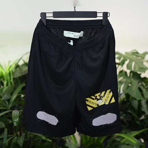 Off White 17SS Mesh Mirror Short Pants Online Sale