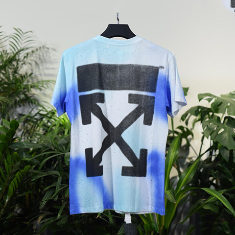 Off White 18FW Diamond-encrusted Black Arrows Tshirt Online Sale