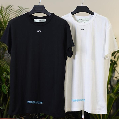 Off White 18SS Black And White Color Temperature Tee Shirt Sale
