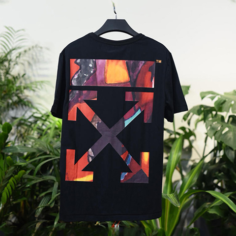 Off White 18SS Black HongKong Limited Arrows Tshirt Online Sale