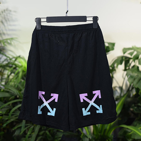 Off White 18SS Mesh Arrows Short Pants Online Sale