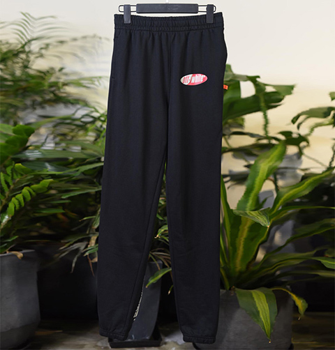 Off White 19SS Black Split Logo Slim Lounge Pants Online Sale