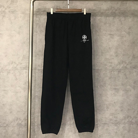 Off White 19SS logo-print Black Stencil Lounge Pants Sale MA