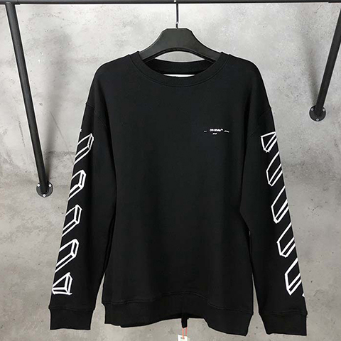Off White 19SS outline Lgo print sweatshirt CD Sale