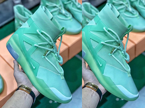 NK Air Fear of God 1 Green Perfect Version Released Sale