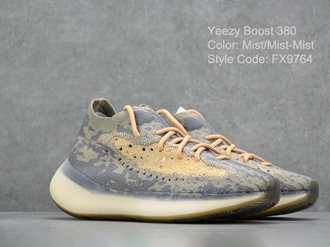 Yeezy Boost 380 Mist FX9764 High Quality Version Sale