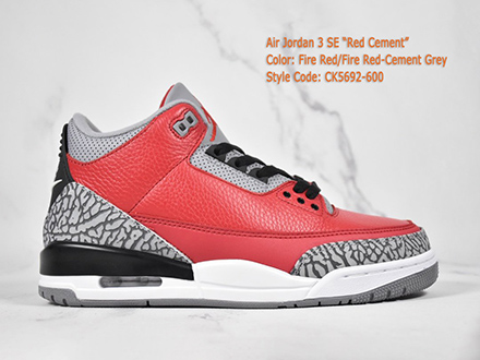 Air Jordan 3 Retro SE Red Cement CK5692-600 Released