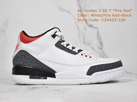 Air Jordan 3 SE Denim Fire Red CZ6433-100 Released Sale