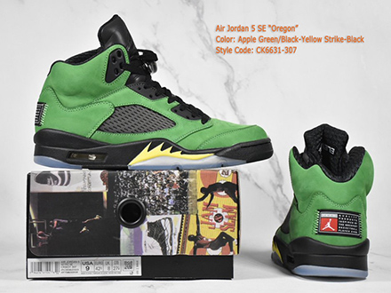 Air Jordan 5 Retro SE Oregon Ducks Released CK6631-307 Sale