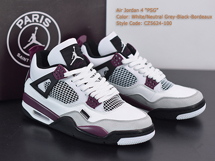 Paris Saint-Germain x Air Jordan 4 Retro Bordeaux CZ5624-100 Released Sale
