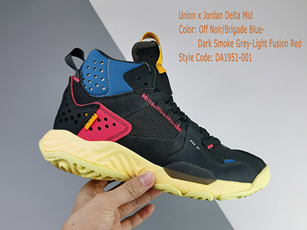 Union LA x Jordan Delta Mid Off Noir DA1951-001 Released Sale