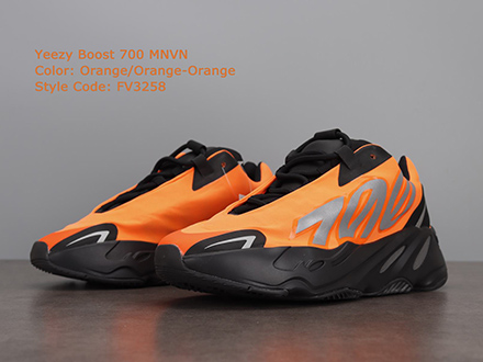 Yeezy Boost 700 MNVN Orange FV3258 Released Sale
