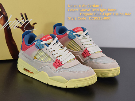 Union LA x Air Jordan 4 Retro Guava Ice DC9533-800 Released Sale