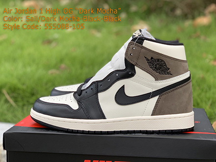 Air Jordan 1 Retro High OG Dark Mocha 555088-105 Released Sale