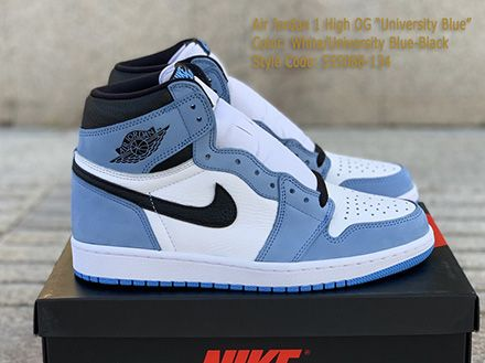 Air Jordan 1 Retro High OG University Blue Released Sale