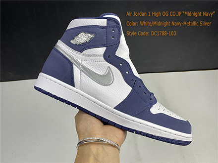 Air Jordan 1 Retro High co JP Midnight Navy 2020 DC1788-100 Released Sale