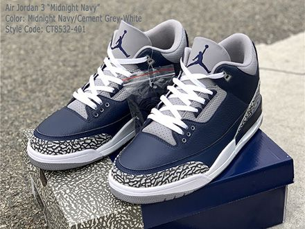 Air Jordan 3 Midnight Navy CT8532-401 Released