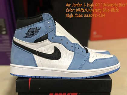 Air Jordan 1 High OG University Blue White 555088-134 Released