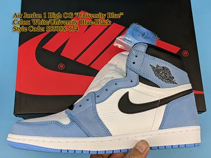 Air Jordan 1 Retro High OG University Blue 555088-134 Sale