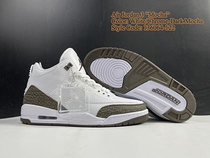 Air Jordan 3 Retro Mocha 2018 136064-122 White Dark Mocha Sale